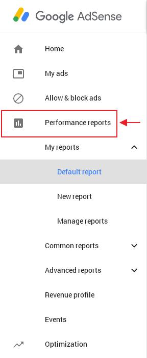 menu performance reports