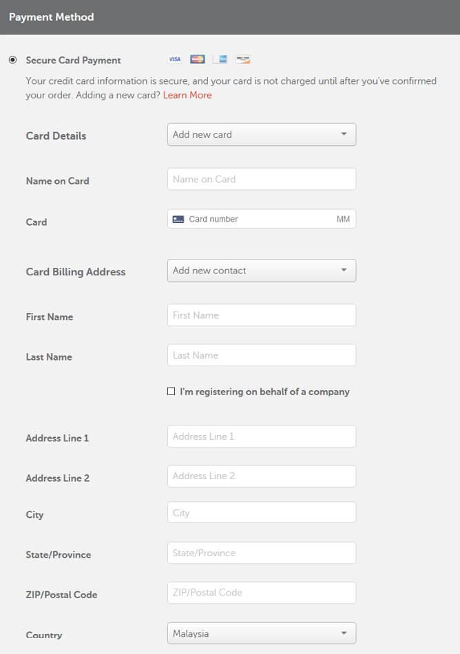 maklumat secure card payment