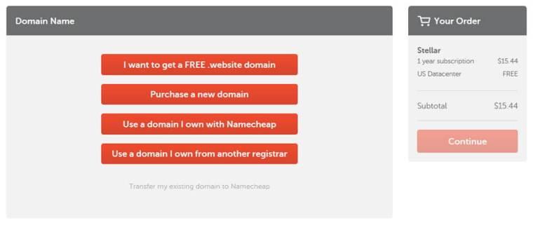 pilihan untuk domain