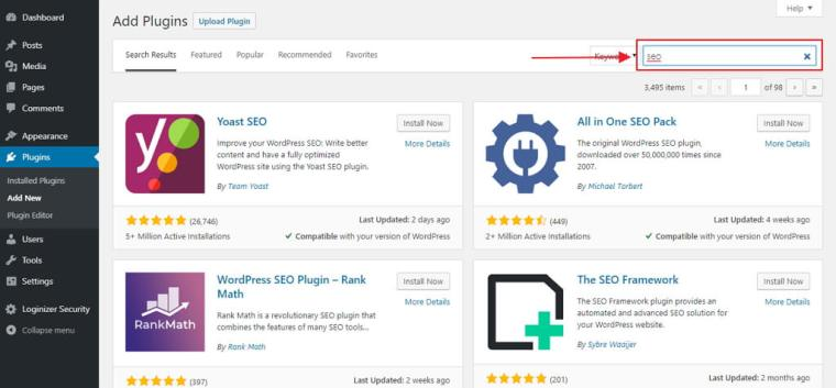 search plugin wordpress