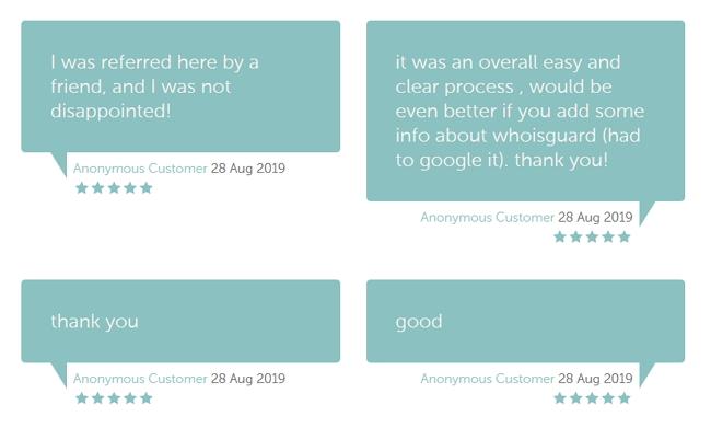 Contoh paparan testimoni dalam laman web