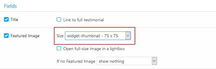 featured image widget thumbnail