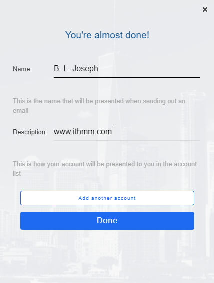 bluemail desktop your name