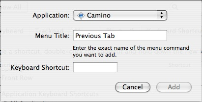 Add Keyboard Shortcut