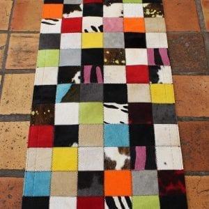 tapis patchwork en peau itinerance