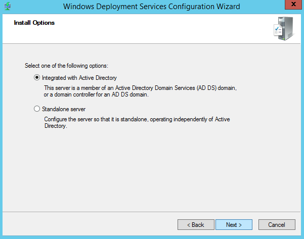 Configure Windows Deployment Services 2012
