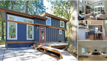 Thrifty Vermont Family Rent Main House and Live in Tiny House Tiny