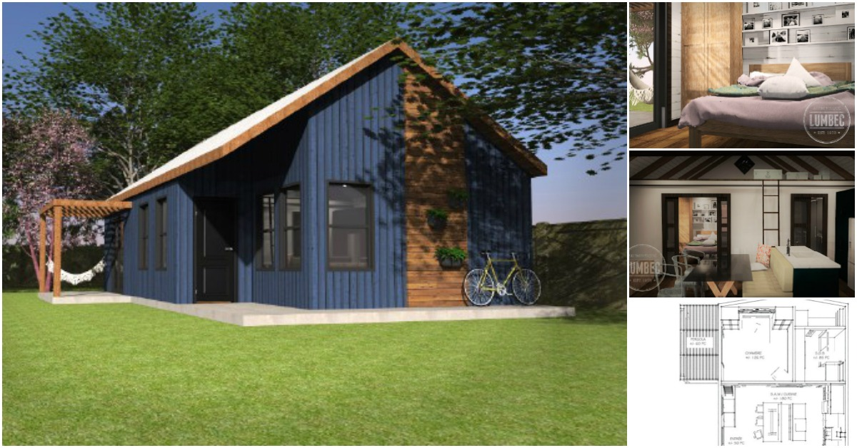 "Canadian Company Releases New Design of 640sf ""Azure"" Tiny House"