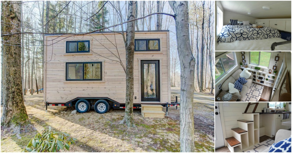 Rustic 160sf Craftsman Tiny House by Modern Tiny Living
