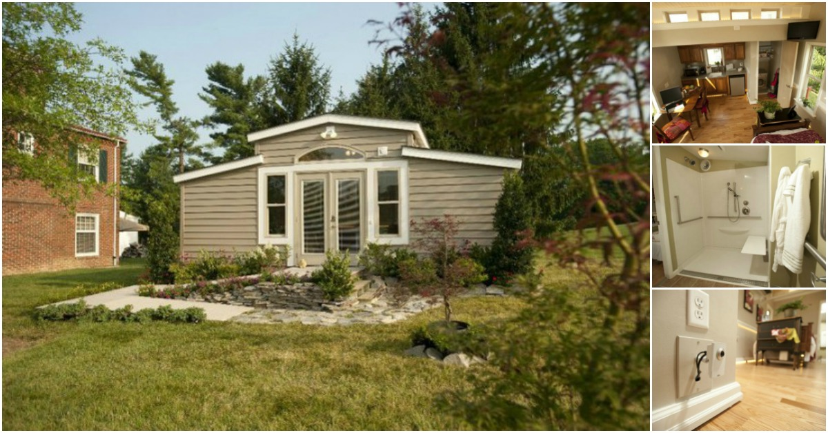 "Backyard ""Granny Pod"" Tiny House Gives Families an Alternative to Nursing Homes for Aging Parents"