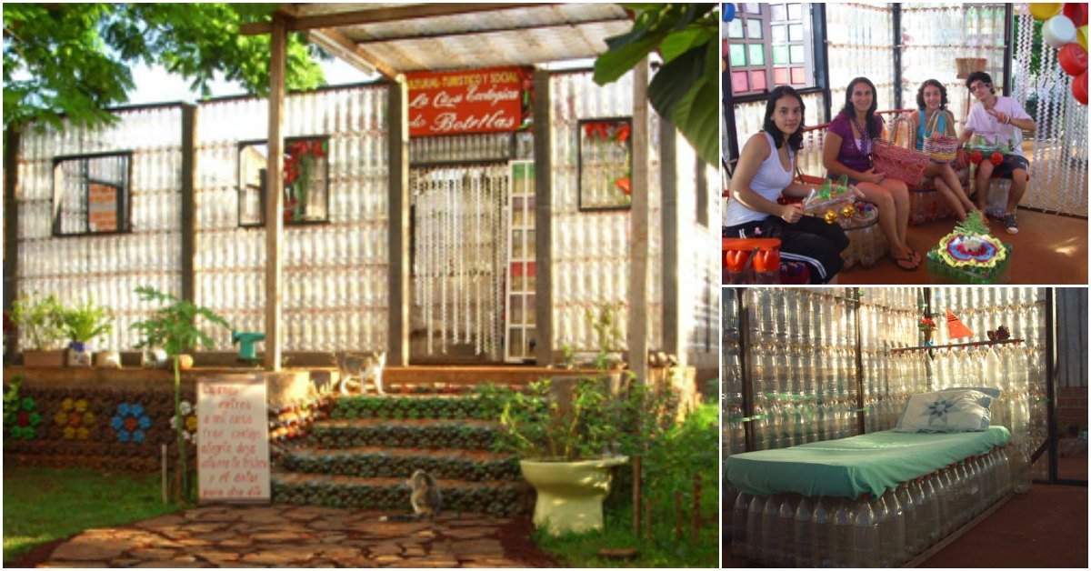 La Casa de Botellas Is a Tiny House Made of … Plastic Bottles