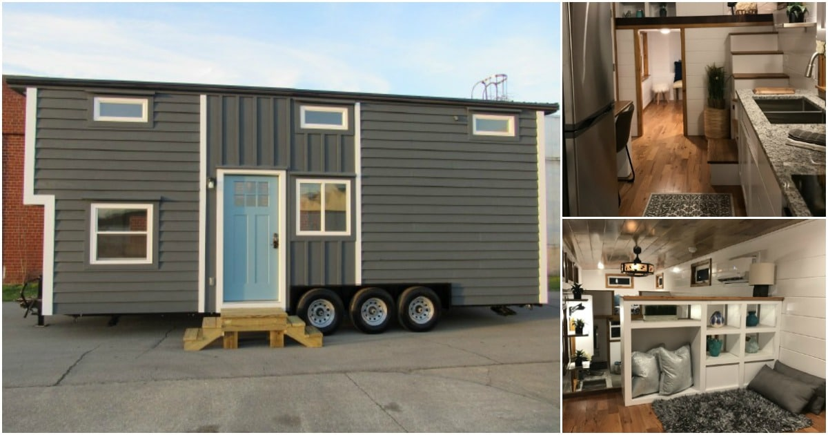 """The Movie Star"" Tiny Home Features a Surprise Hidden Staircase"