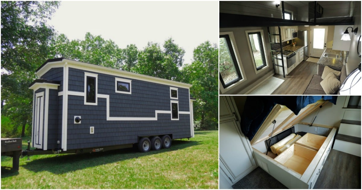This Beautifully Crafted Tiny House Features Amazing Configurable Storage