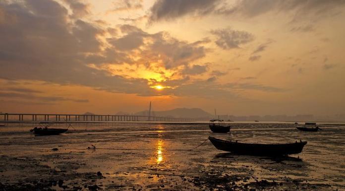 Sunset at Lau Fau Shan 流浮山日落