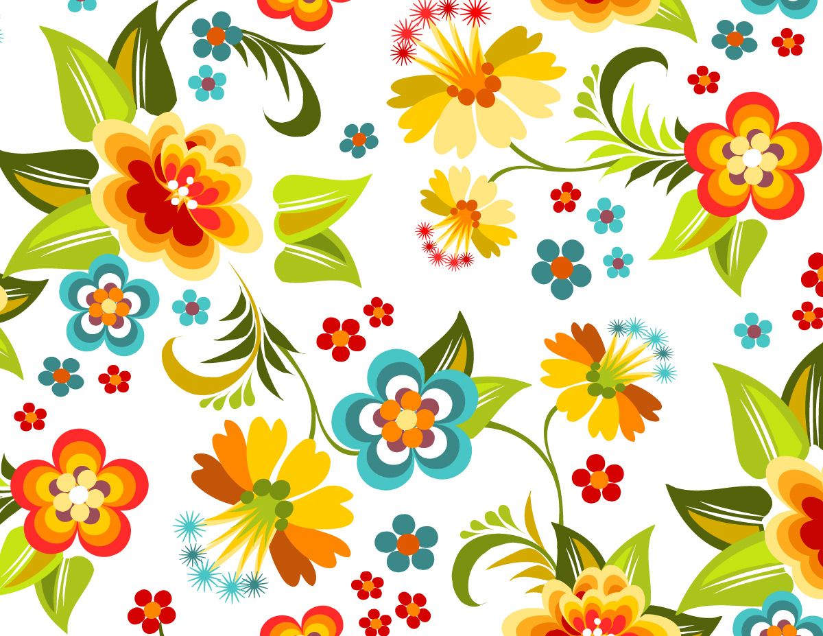 Colorful Floral Pattern Flowers Pattern High Resolution 2029842 Hd Wallpaper Backgrounds Download