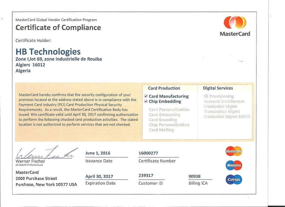 mastercard certification hb