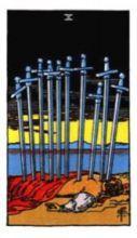 THE TENS OF SWORDS