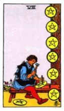 THE EIGHTS OF PENTACLES