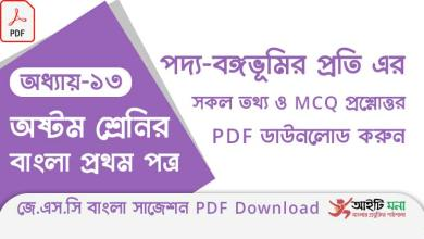 jsc-bangla-1st-paper-mcq-suggestion-pdf-download-chapter-13