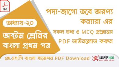 jsc-bangla-1st-paper-mcq-suggestion-pdf-download-chapter-20