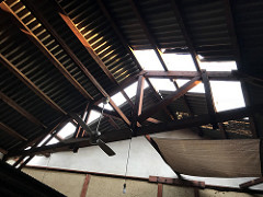 台風21号はお店にも猛威を奮っていきました