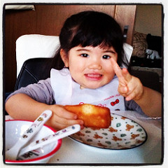 この子の20年後はどんな娘になるのだろう?2歳3ヶ月の姪っ子(^^)