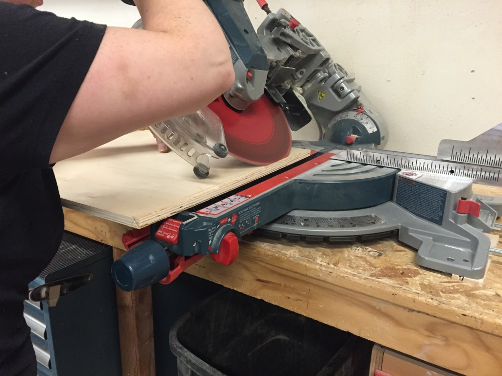 chop saw - creating 45degree angles for the corners