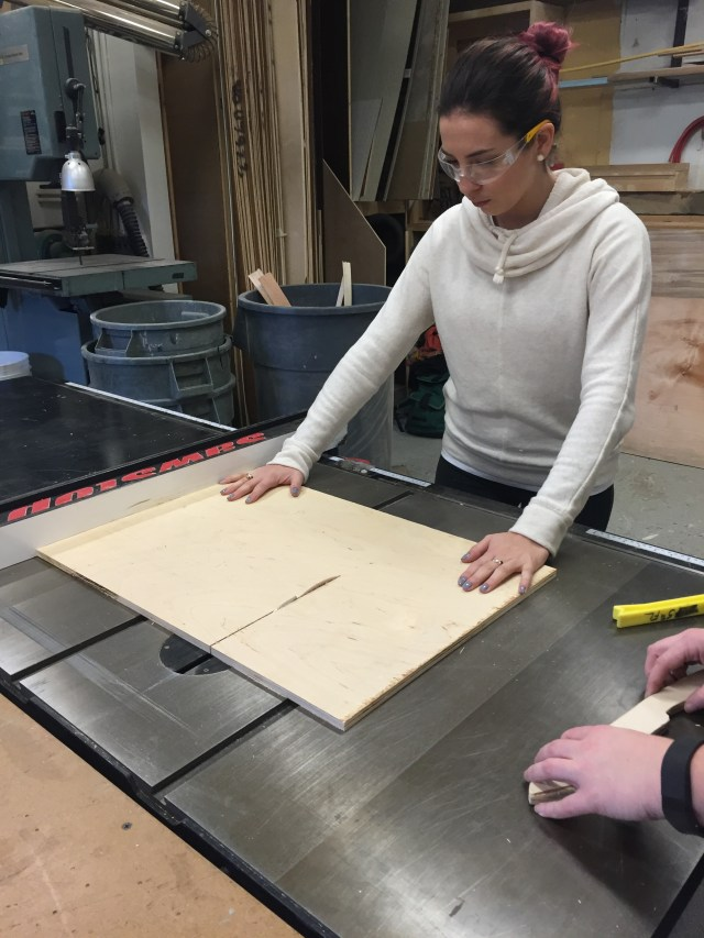 cutting the panels
