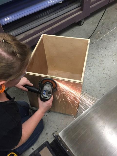 grinding down the screws