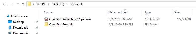 Openshot portable software.