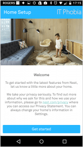 Nest Learning Thermostat 3rd Generation App Home Setup