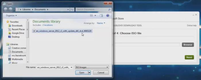 windows 7 usb dvd download tool browse iso file