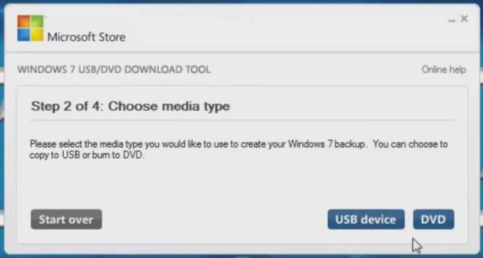 windows 7 usb dvd download tool choose media file