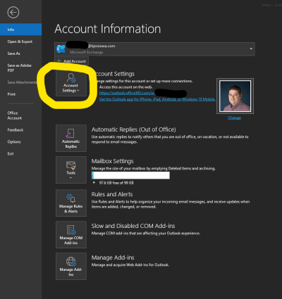 Add Rules to a Shared Mailbox in Office 365 - Account Settings