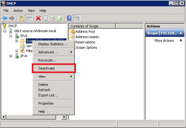 dhcp-deactivate