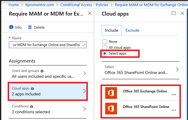 Leveraging Conditional Access to enforce either MDM or MAM