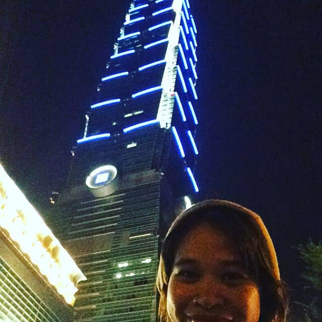 biking from Daan station to Taipei101 good weather tonight Taipeihellip