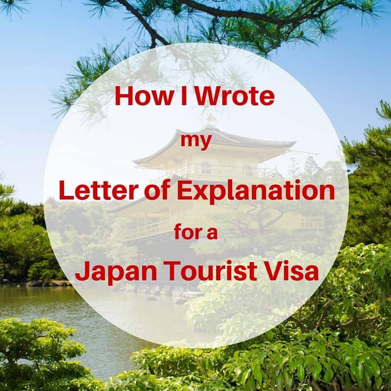 How I Wrote My Letter Of Explanation Japan Tourist Visa - Itravelrox