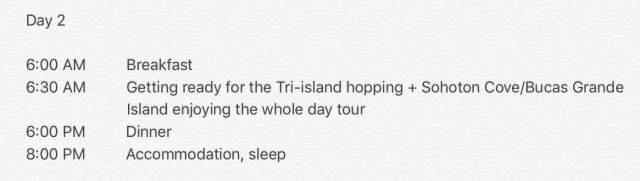 5 days 4 nights siargao itinerary day 2