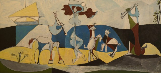 A famous Pablo Picasso Painting in the Musee Picasso Antibes