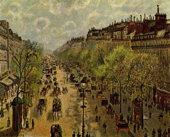 Montmartre Boulevard - Camille Pissarro Paintings