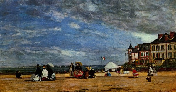 Trouville Beach Painting
