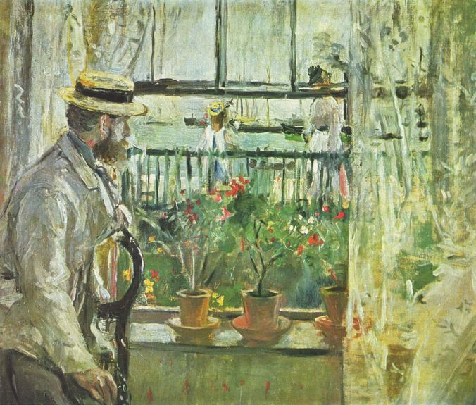 Eugene Manet looking out the window - Berthe Morisot Painting
