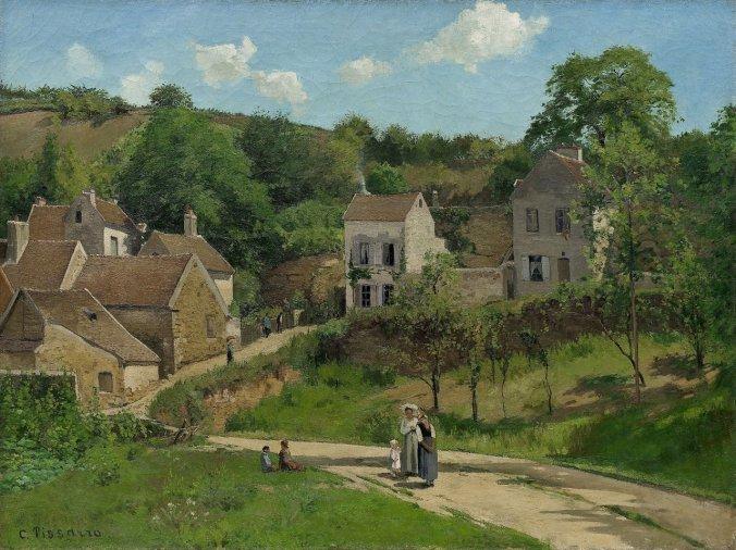 Pissarro L'Hermitage à Pontoise,1867