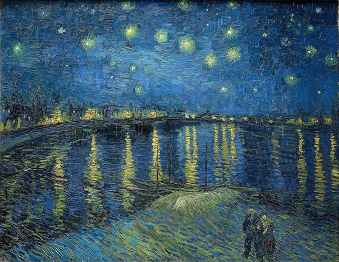 Starry Night over the Rhone in Arles - Van Gogh art