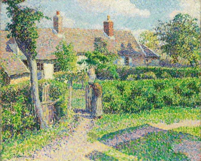 Camille Pissarro art - Pointillism style