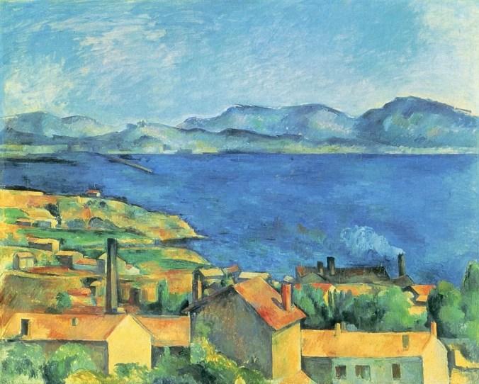 Cezanne - cubism style - l'Estaque coast