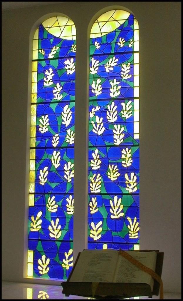 Matisse art - stainglass windows designed by Matisse