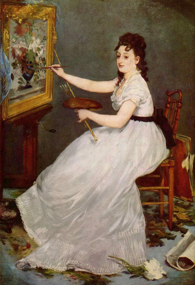 Portrait of Eva Gonzales - Painting by Édouard Manet