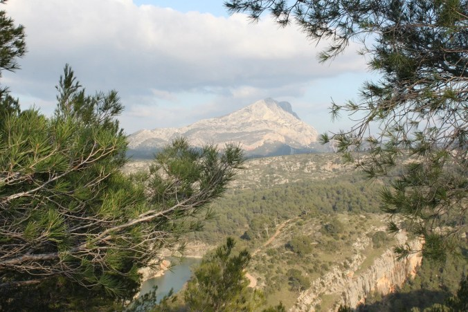 French famous landscapes -  Saint Victoire mountain - Aix en Provence